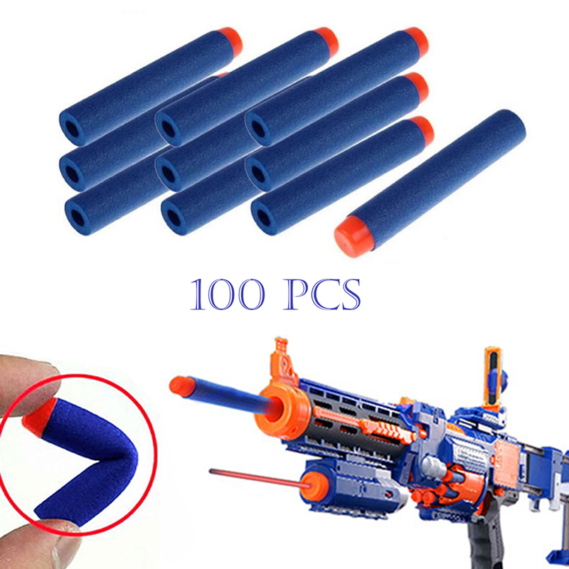 100Pcs airsoft pistol Toy Gun Bullets Air Hole Foam gun toys outdoor fun sports entertainment airsoft
