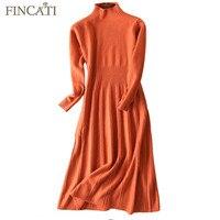 Pullover Kleid Frauen 2017 Herbst Winter England Style High Grade 100% Ziege Kaschmir Flauschigen Gestreift Stricken Gefaltete Lange Kleider