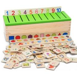 Envío Gratis caja de clasificación de conocimiento de Montessori matemáticas materiales de Montessori juguetes para niños caja de madera