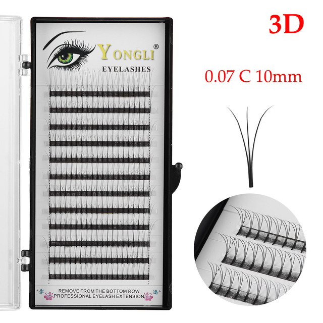 Individual False Eyelash 3D Premade Russian Volume Lash Fans C Curl Individual Eyelash Extensions Natural Eye Makeup False Eyelashes