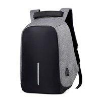 Противоугонная сумка для мужчин ноутбук рюкзак для путешествий женская большая емкость бизнес-usb зарядка колледж Студенческая школьная су...