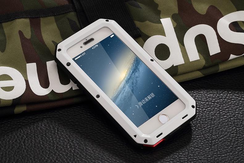 HTB1FZz.eTlYBeNjSszcq6zwhFXay Heavy Duty Protection Doom armor Metal Aluminum phone Case for iPhone 11 Pro Max XR XS MAX 6 6S 7 8 Plus X 5S 5 Shockproof Cover