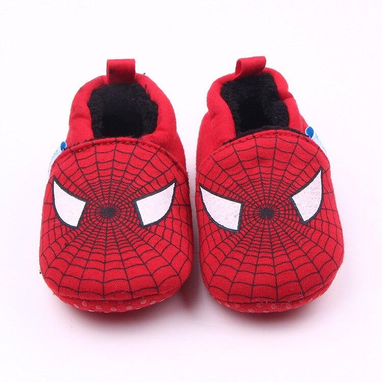 2016 Winter Shoe Baby Crib Shoes Cute Cartoon Spiderman Newborn Infant Toddler Home Footwear Indoor House Gear Baby Necessities