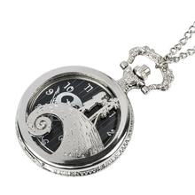 couple pocket watch Christmas Jack Skellington Tim Burton Movie Theme Watches Fashion Quartz Pocket Watch Vintage Necklace цена