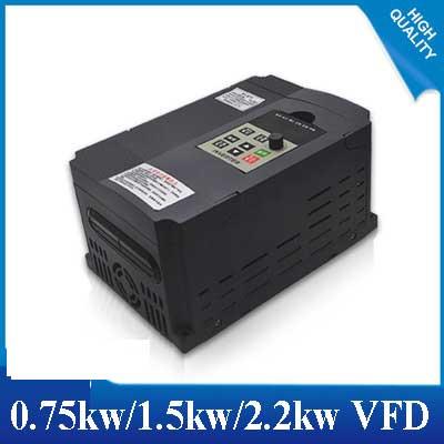 0.75KW1.5KW / 2.2KW 220V Single-phase inverter input VFD 3 Phase Output Frequency Converter Adjustable Speed 1500W 220V Inverter 2 2kw 220v single phase inverter input vfd 3 phase output frequency converter adjustable speed 2000w 220v inverter
