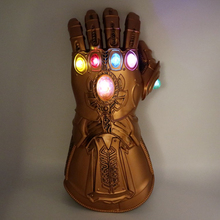Thanos Avengers Infinity War Infinity Gauntlet Cosplay Gloves with LED Avengers Thanos PVC Glove Deluxe Party Costume Props