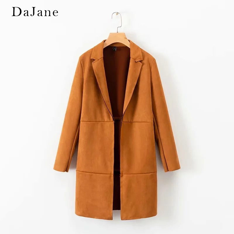 Explosion Models Autumn New women's   Suede   Texture Coat Windbreaker Jacket   Leather   Jacket Women