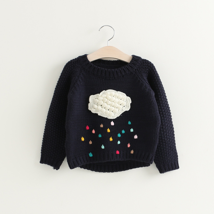 ff970c53f DZIECKO Children Sweater Baby Girls Knitted Sweaters Autumn 2017 Cloud  Colorful Rain Pullover Clothing Toddler Girl Sweaters -in Sweaters from  Mother & Kids ...