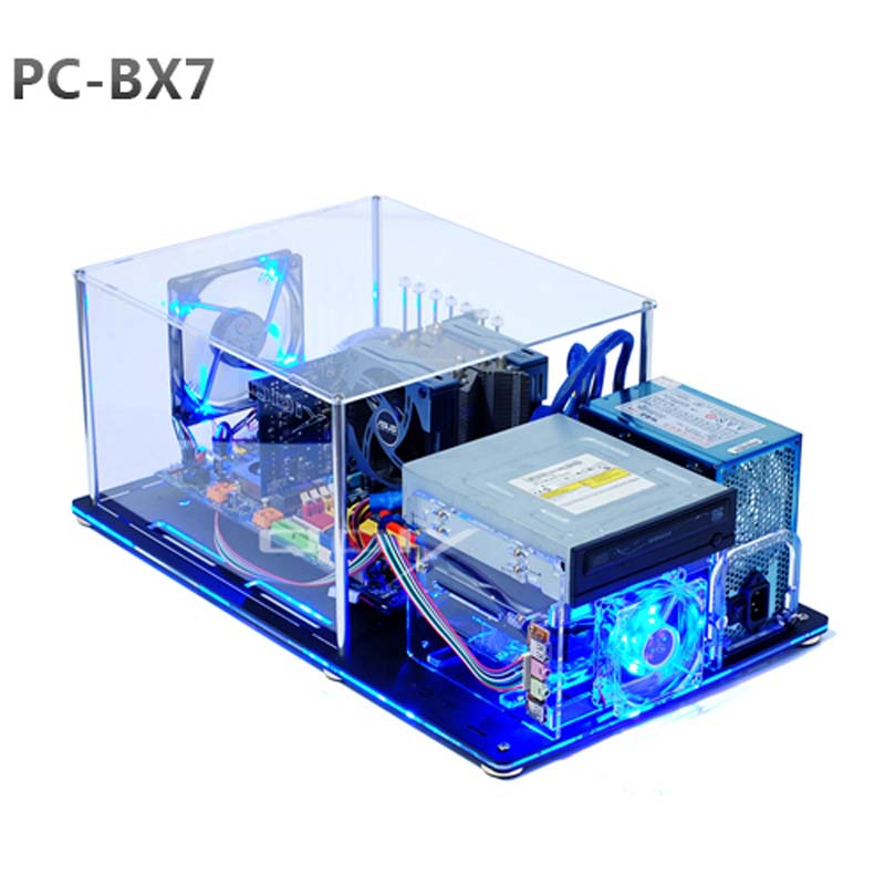 Diy Pc Bx7 Atx Horizontal Bare Frame Half Mask Pc Transparent