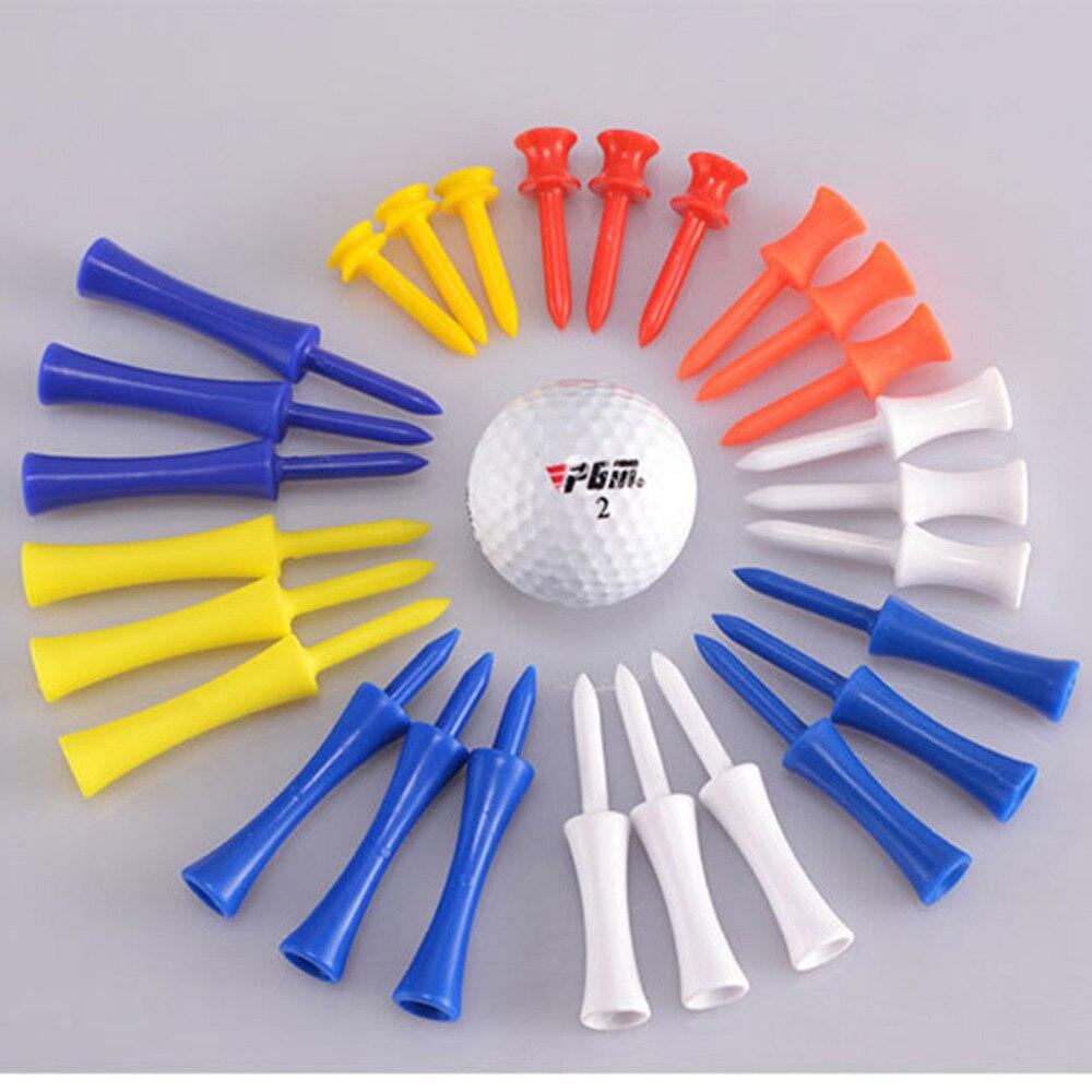 PGM 100pcs /bag Golf Tees Holder Training Practice Tee Plastic Mat Golf Ball Hole Holder Beginner Trainer Durable Professional