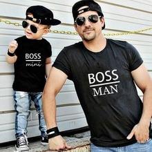 футболки для папы и сына, детские футболки, топы с буквенным принтом gourd Doll, семейная одежда,Семейные комплекты одежды