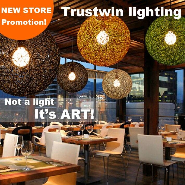 Trustwin brand ceiling light ball lamp shade fixture for living room foyer sitting  room hotel restaurant - Popular Ceiling Light Shade Wicker-Buy Cheap Ceiling Light Shade