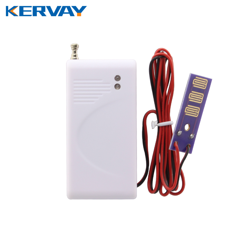 Kervay 433mhz Frequency wireless Flood Water leakage detector for Security GSM alarm system water leakage sensor yobang security wireless water leakage sensor detector water flood sensor 433mhz leak detector for g90b alarm panel