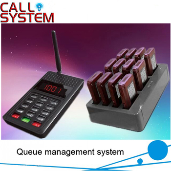 1 set Queue pager management system for restaurant, KFC, fast food with 12 vibrating receivers free DHL shipping