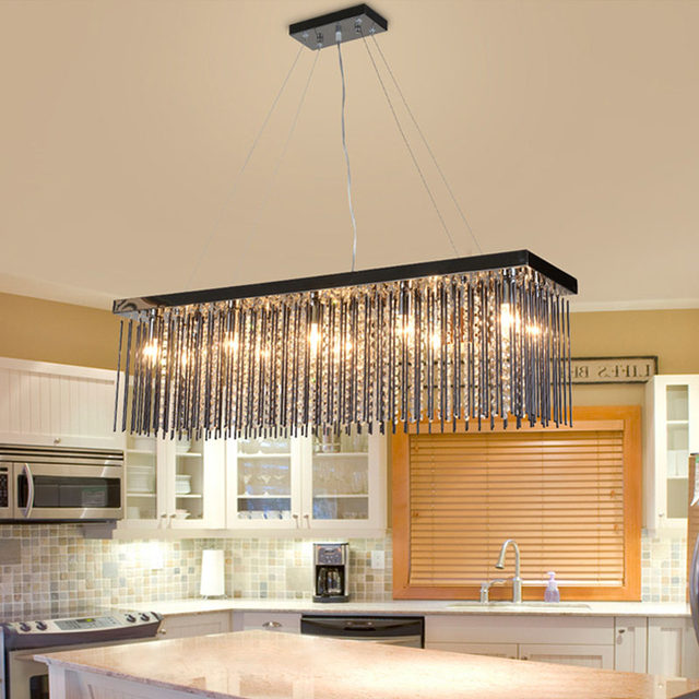Online Shop Crystal lamp rechthoekige eetkamer hanglampen hotel ...