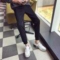 New 2017 casual solid color pencil pants men elastic waist breeches sweatpants men joggers size m-5xl 3-colors XXK18-2