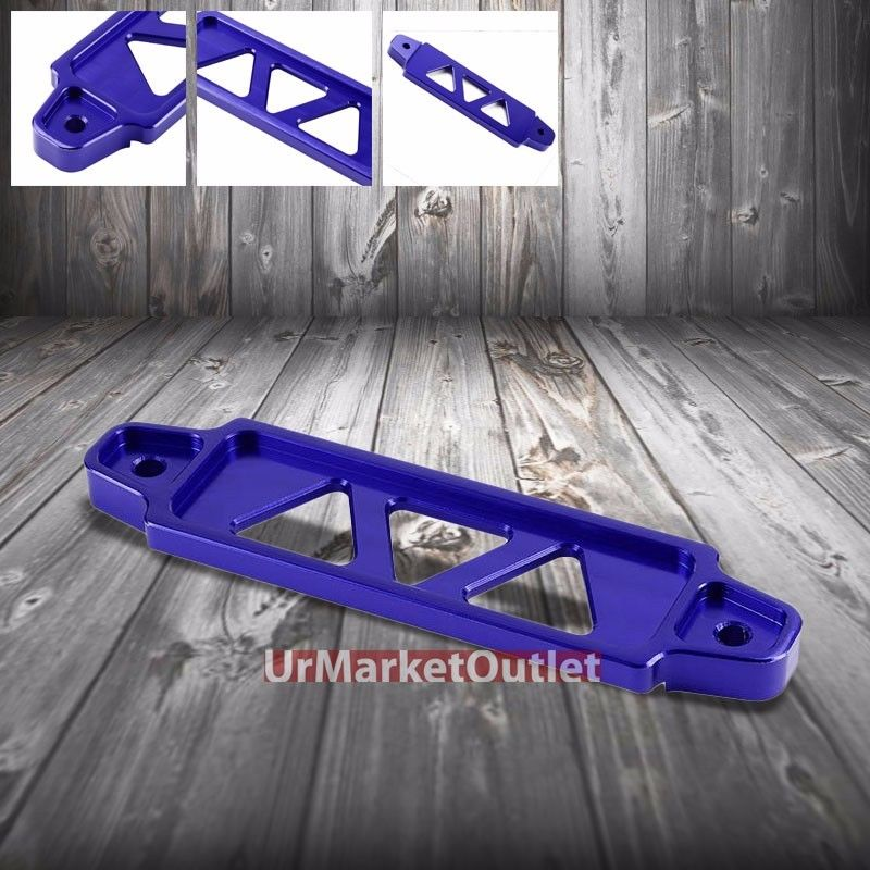XYIVYG 170MM/145MM Blue Billet Aluminum Car Battery Tie Down Mount Bracket Short Bar