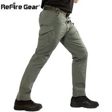 ReFire Gear nowy IX9 miasto taktyczne wojskowe spodnie męskie SWAT siły armii Cargo spodnie na co dzień w pasie wielu EDC kieszenie bawełniane do spodni tanie tanio Mężczyźni Pełnej długości Wojskowy Suknem Mieszkanie Poliester COTTON Cargo pants Midweight New Pants REGULAR Zipper fly
