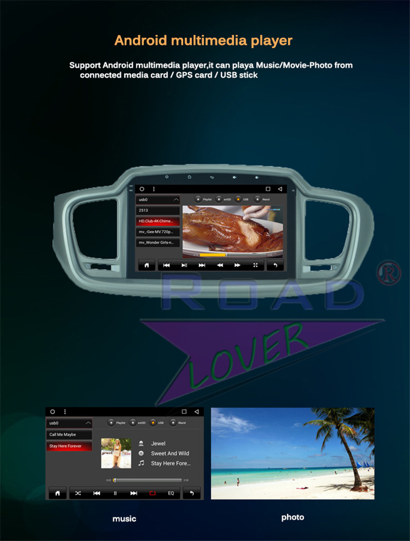 car android dvd For KIA Sorento 2015