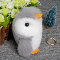 Cute Mini Pompon Rabbit Fur Penguin Keychain Trinket Pom Pom Doll Women Bag Key Chain Car Keyring Chaveiro Jewelry New Year Gift
