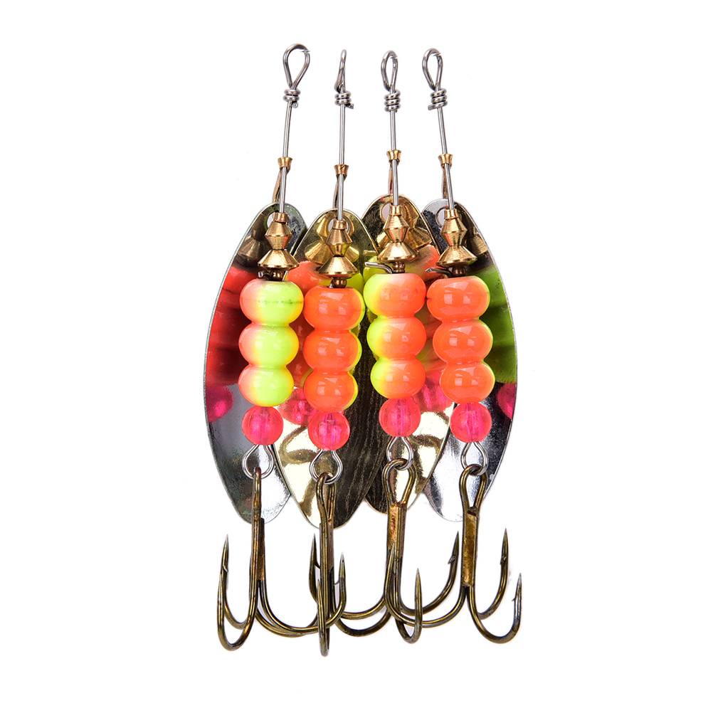 1Pcs Spinner Spoon Shippin Fishing Lure Hook Anzuelos De Pesca Lures With Mustad Treble Hook Peche Jig 1pcs fishing lure pesca mepps spinner bait spoon lures with mustad treble hooks peche jig anzuelos isca pesca hq048