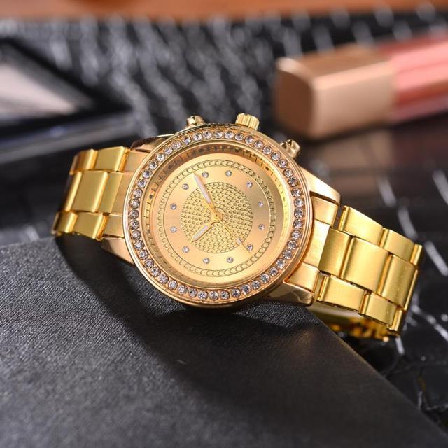 כללי חגורת פלדה יפה גבירותיי שעוני יד מפואר טמפרמנט מראה נשים של קוורץ שעון פשוט מזכרות מתנות שעון # D
