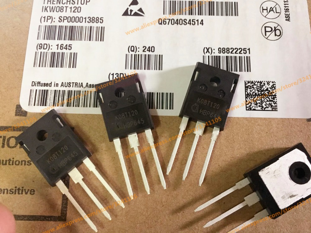 Free Shipping 50PCS/LOTS NEW  IKW08T120 K08T120 TO-247