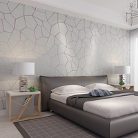 PAYSOTA 3D Modern Simple Geometric Graphics Non woven Wall Paper Cloth Deerskin Velvet Bedroom TV Wall Paper Roll