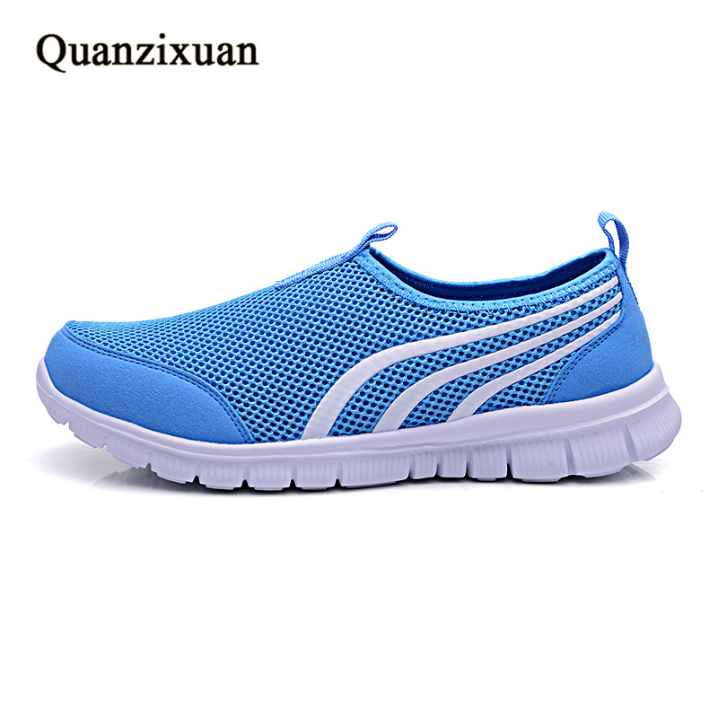 Quanzixuan Summer Women Sandals Fashion Casual Shoes Sneakers Light Breathable Mesh Shoes Women summer sandals women leather breathable mesh outdoor super light flats shoes all match casual shoes aa40140