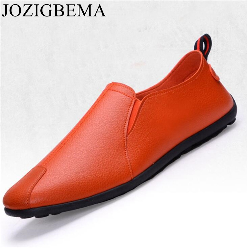 Casual Shoes Spring Men Loafers Slip On Drivi Flat Fashion Summer Light Pu Simple-Style