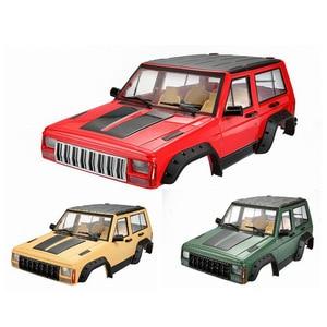 Image 1 - 1 шт. жесткий пластиковый корпус колесной базы 313 мм, корпус автомобиля для радиоуправляемого гусеничного автомобиля 1/10 Axial SCX10 и SCX10 II 90046 90047