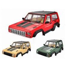 1 sztuk twardego plastiku 313mm rozstaw osi ciała obudowa samochodu dla 1/10 gąsienica rc oś samochodu SCX10 i SCX10 II 90046 90047
