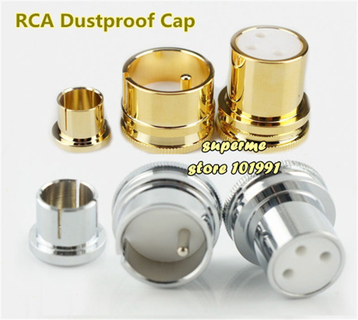 DEBROGLIE 20pcs Gold plated Rhodium plated xlr cap RCA Lotus cap Shielded Cover dustproof CAP XLR