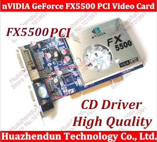 Free Shipping 100% NEW nVIDIA GeForce FX5500 PCI 256MB 128bit DDR VGA/DVI PCI Video Card