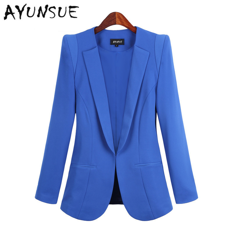 New 2017 Blazer Women casacos femininos Basic Jackets women blazer slim coat Candy Color Blazers suits for women cardigan casaco