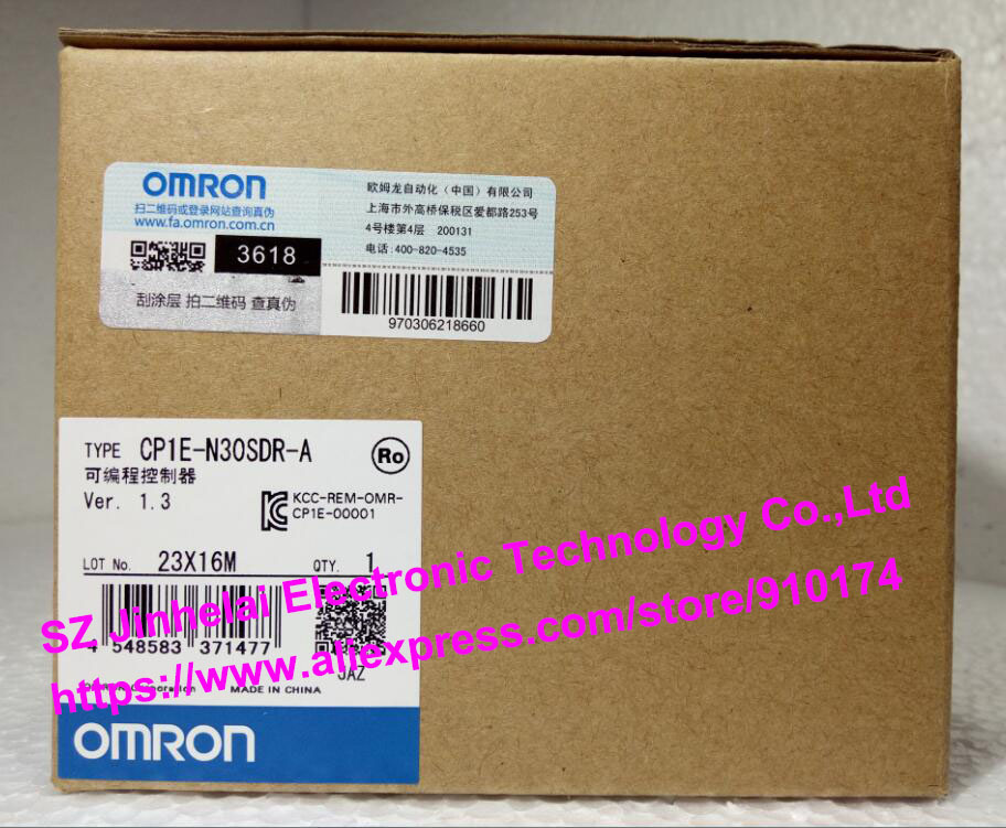 New and original CP1E-N30SDR-A OMRON PLC controller [zob] new original omron omron beam photoelectric switch e3jk tr12 c 2m 2pcs lot