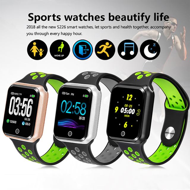 S226 Smart Watch Women Men Sport Modes Bluetooth Waterproof Heart Rate Monitor Blood Pressure For iPhone Android PK iwo 8