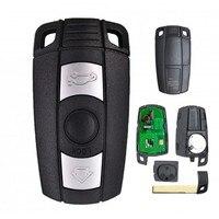 KEYECU Keyless-Go 스마트 원격 자동차 키 868MHz Fob 3 버튼 BMW 1 3 5 시리즈 X5 X6 2006-2011