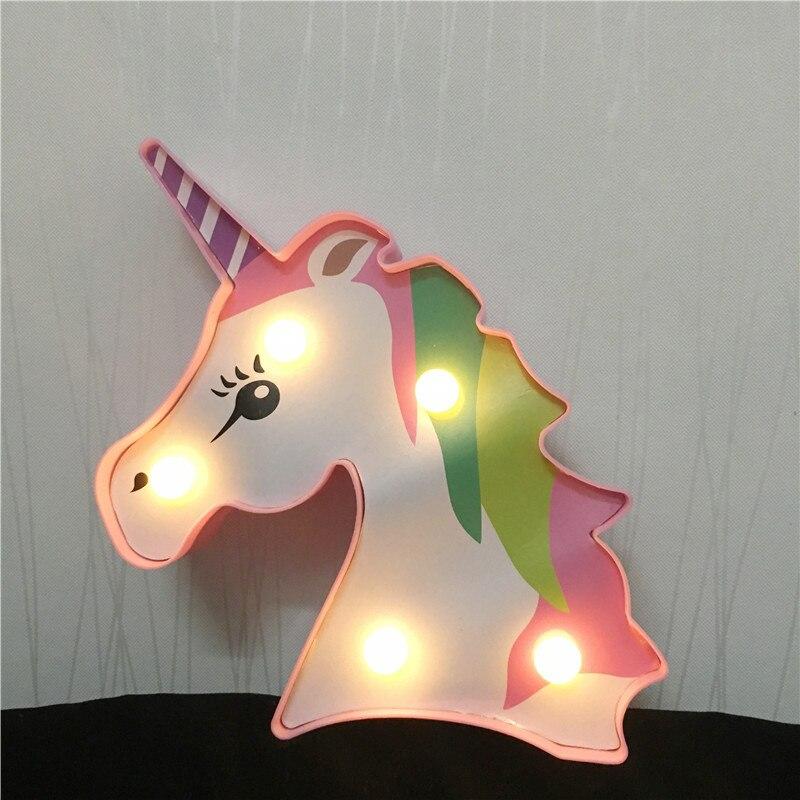 3D peint licorne LED veilleuse bébé pépinière lampes Table décorative lumière enfants jouets anniversaire cadeau éclairage à la maison