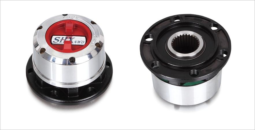 US $251 92  2 Pcs x for MITSUBISHI Pajero Triton L200 4x4 Montero HYUNDAI  Galloper all free wheel locking hubs B012HP AVM443HP-in Wheel Hubs &