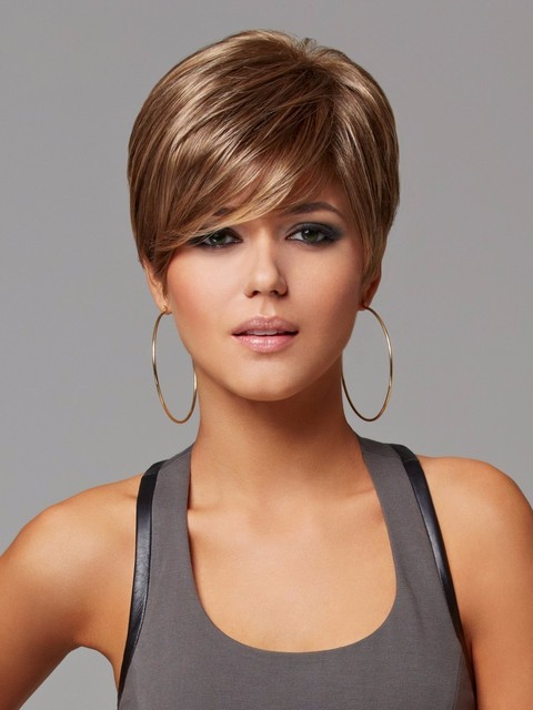 Sale High Quality Heat Resistant Brown/Black Short Wavy Lady's Women's Costume Cosplay womens Sexy Synthetic Hair Wig/Wigs