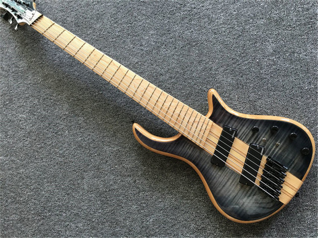 6 - string bass guitar, neck through the body