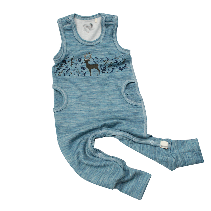 Merino wool bamboo fiber baby clothes sleeveless baby girl boy romper