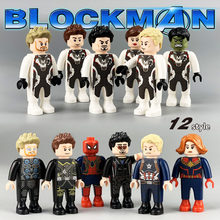 12 Pcs DC Marvel Avengers Super Heroes Spiderman Homem De Ferro Thor Hulk Mini Figuras de Ação Building Blocks Brinquedos Para Presentes(China)