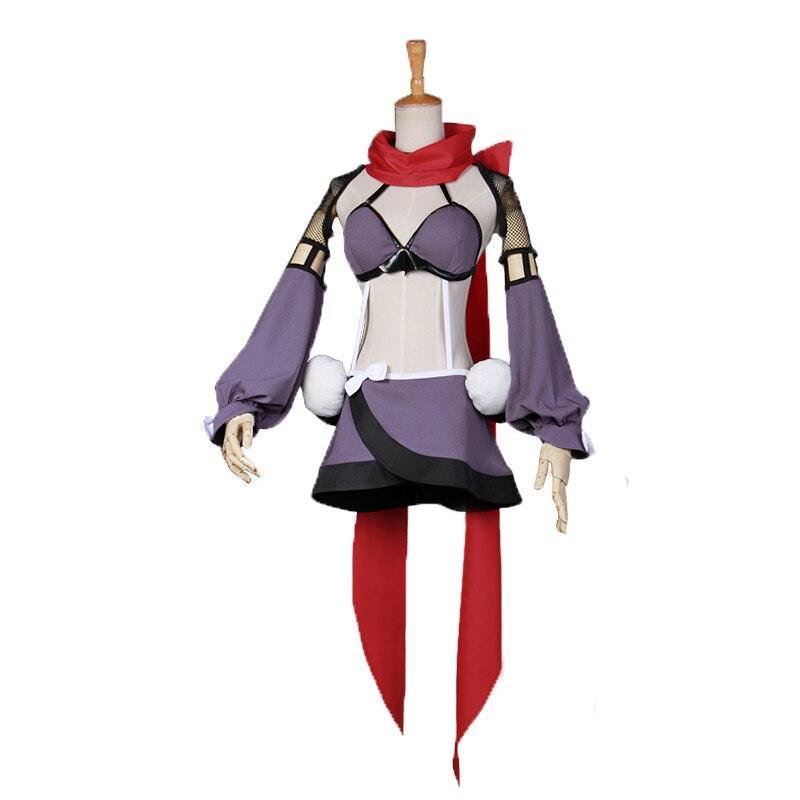Magical Girl Raising Project Sazanami Kano Mahoiku Ripple Tube Uniform  Anime Cosplay Costumes with leg cover and hair accessory
