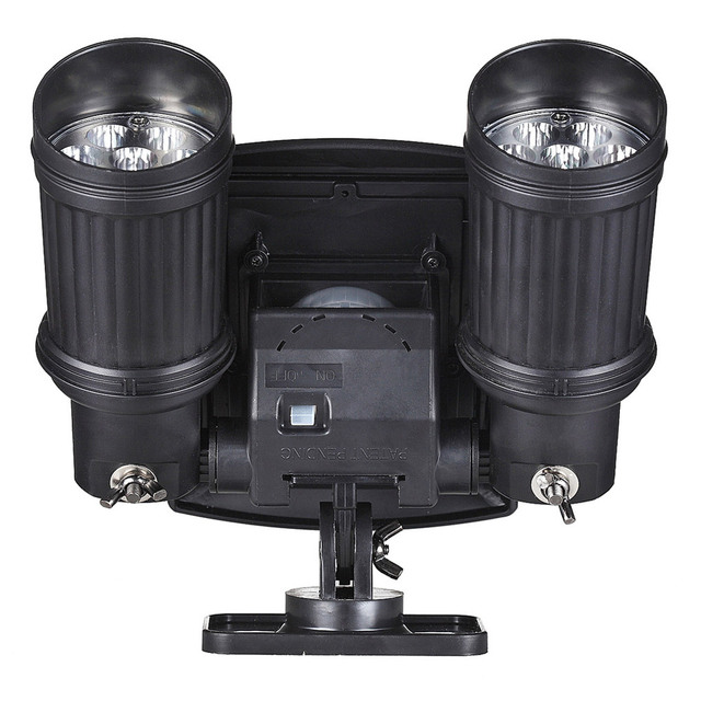 Duplo ajustável motion sensor pir segurança ao ar livre brilhante levou as luzes do ponto de 7 metros intervalos
