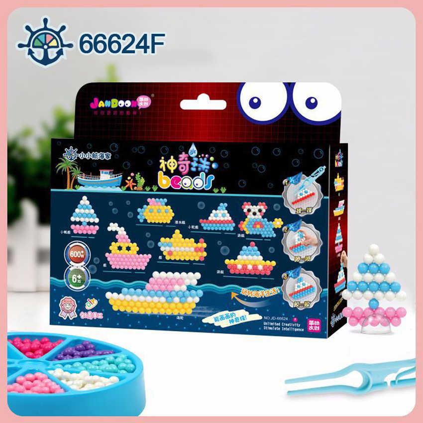 DOLLRYGA 66624F Magico Perline Set Pegboard Sticky Perle di Acqua Fusibile Puzzle aqua Di Puzzle Beadbond Educational FAI DA TE Giocattolo per I Bambini