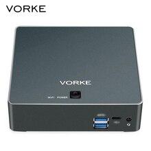 Vorke V2 плюс Мини-ПК 128 ГБ SSD 1600 мГц 2.5 ГГц Оперативная память 8 ГБ Intel Core I7-7500U WI-FI IEEE 802.11 AC Gigabit LAN HDMI USB 3.1 Тип-c