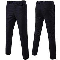 Pure Color Formal men Pants 9 Color Options mens Trousers Size S 6XL men pant