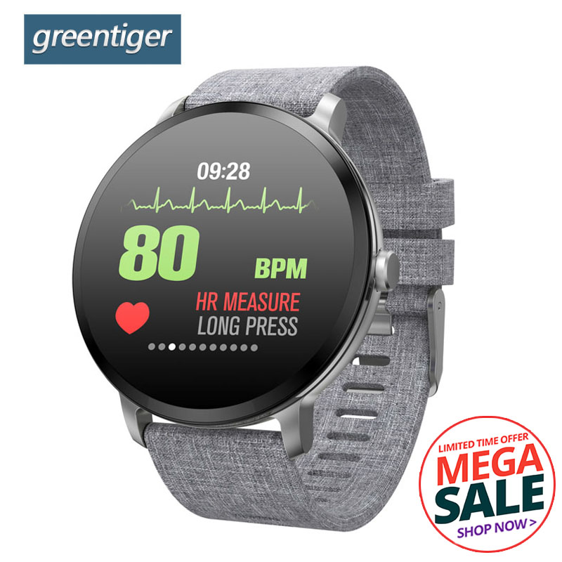 Greentiger V11 Smart Watch Fitness Tracker Heart Rate Monitor Smart Band IP67 Waterproof Sport Prdometer Alarm Clock Smartwatch colmi v11 smart watch ip67 waterproof tempered glass activity fitness tracker heart rate monitor brim men women smartwatch